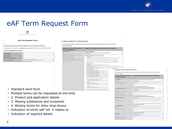 eAF Term Request Form