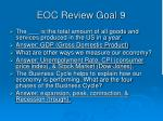 eoc review goal 92
