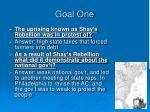 goal one11