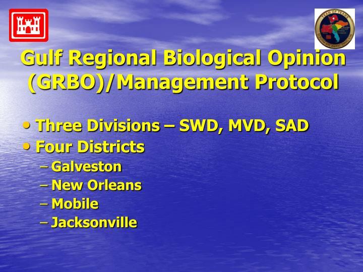 Gulf Regional Biological Opinion