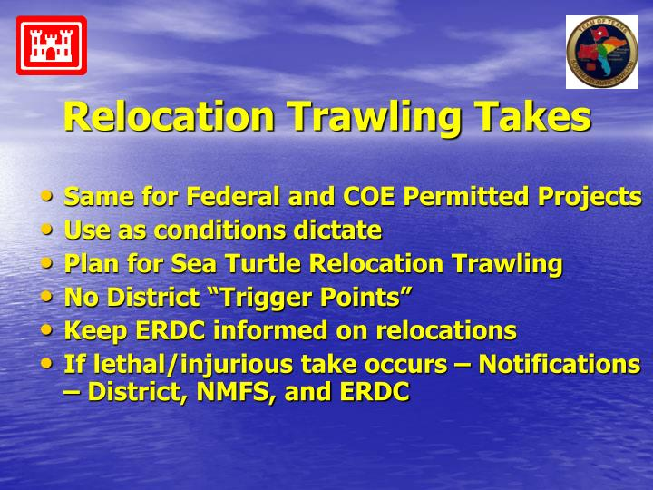 Relocation Trawling Takes