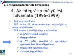 4 az integr ci m ly l si folyamata 1996 1999