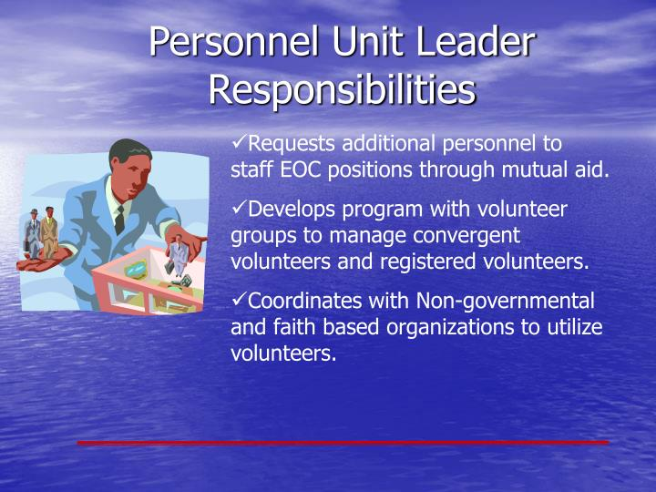 Requests additional personnel to staff EOC positions through mutual aid.