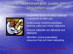 supply procurement unit leader job description1