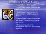 supply procurement unit leader responsibilities