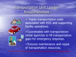transportation unit leader responsibilities