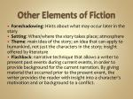 other elements of fiction