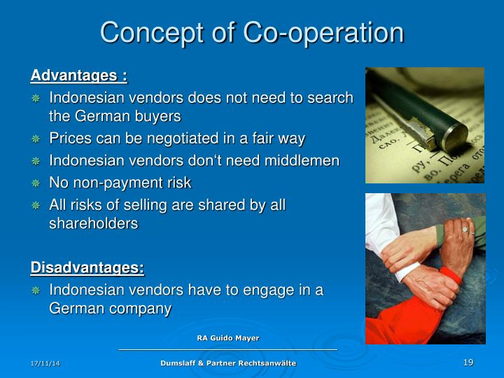 Concept of Co-operation
