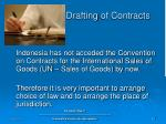 drafting of contracts