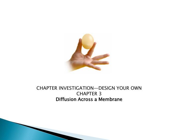 CHAPTER INVESTIGATION—DESIGN YOUR OWN