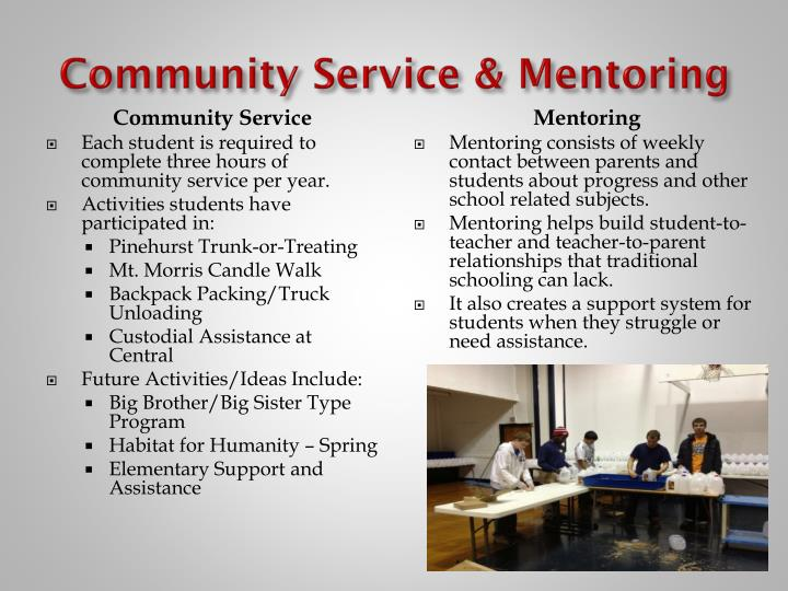 Community Service & Mentoring