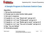 a sample program to illustrate switch case1