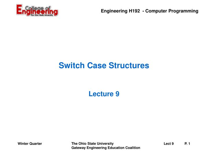 switch case structures