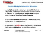 switch multiple selection structure
