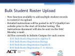 bulk student roster upload