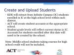 create and upload students1