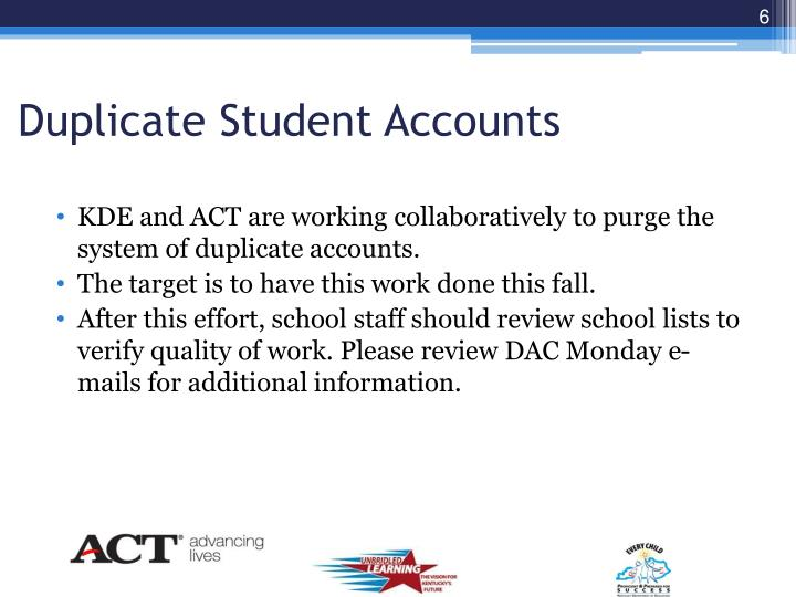 Duplicate Student Accounts