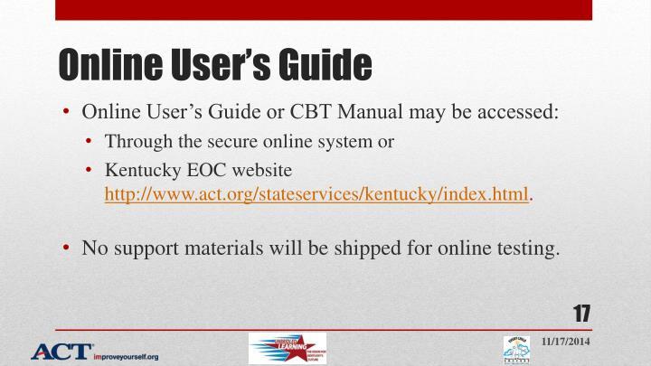 Online User's Guide