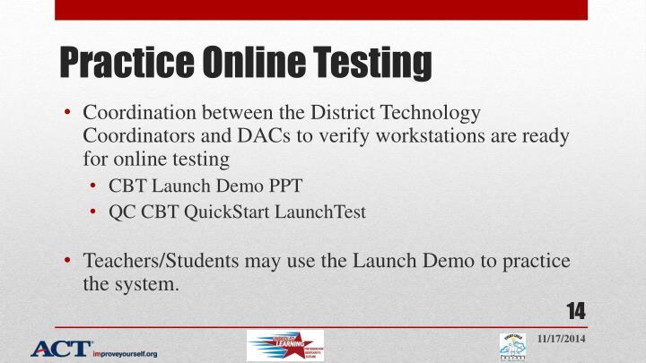 Practice Online Testing