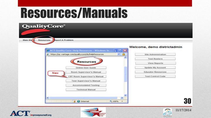 Resources/Manuals