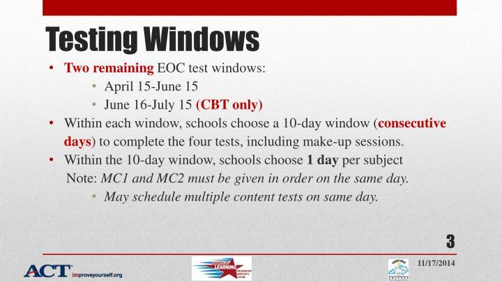 Testing Windows