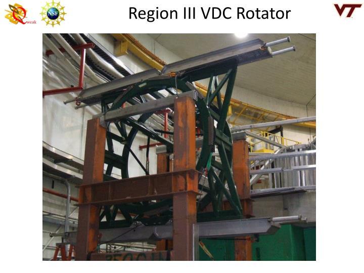 Region III VDC Rotator