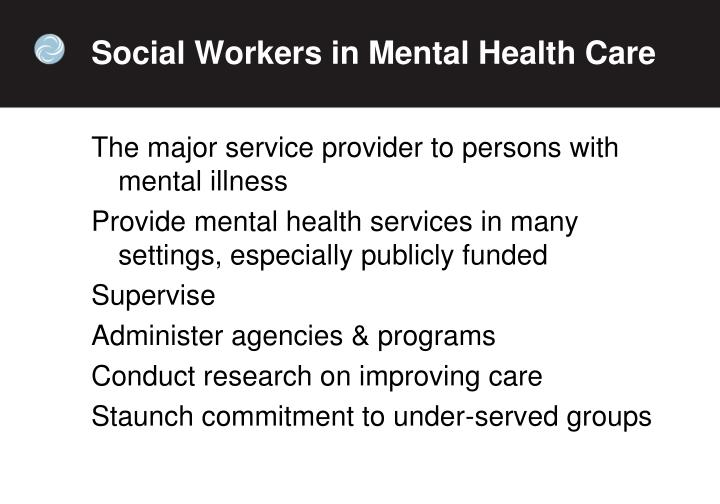 Social Workers in Mental Health Care