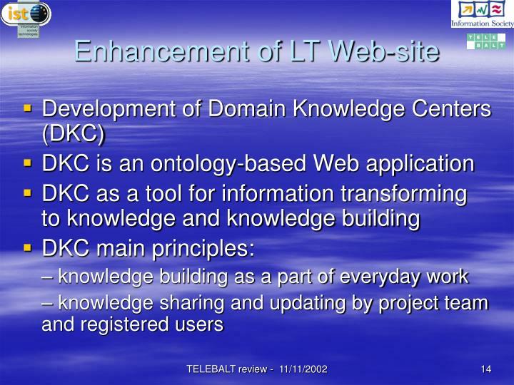 Enhancement of LT Web-site