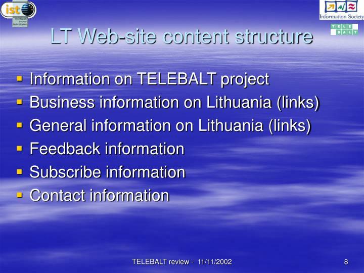 LT Web-site content structure