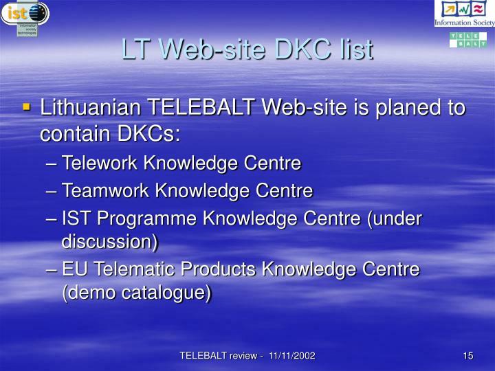 LT Web-site DKC list