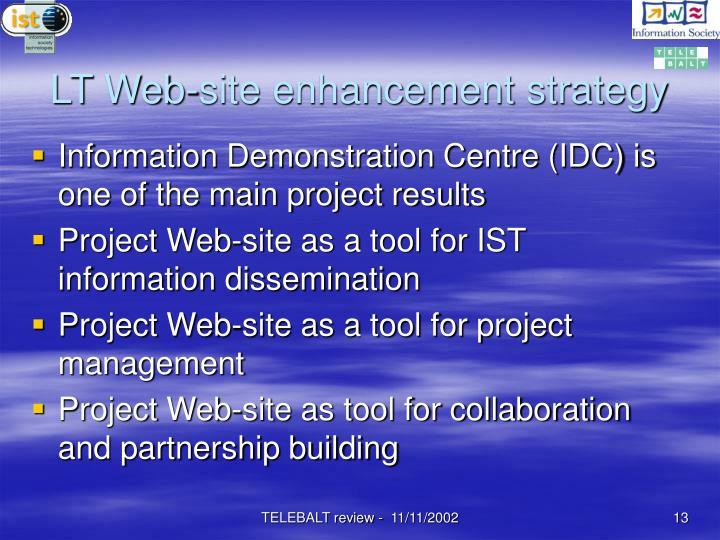 LT Web-site enhancement strategy