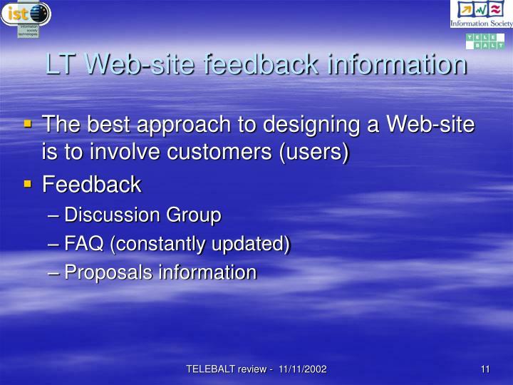LT Web-site feedback information