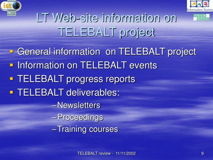 LT Web-site information on TELEBALT project