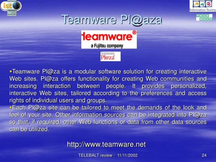 Teamware Pl@aza