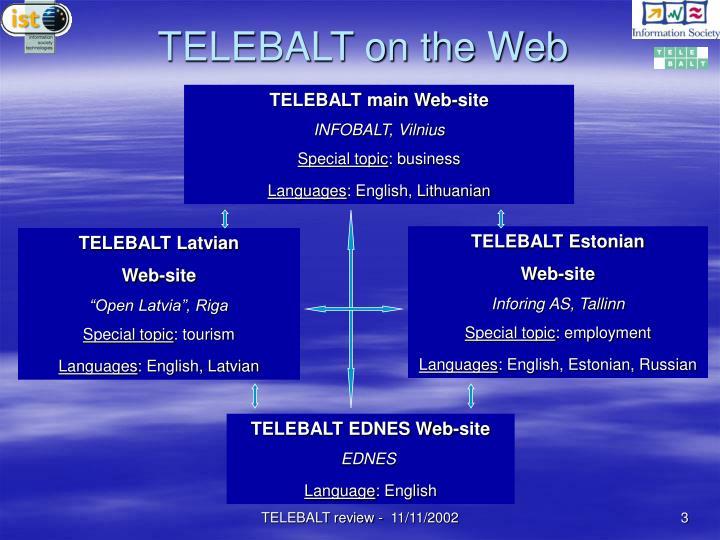 TELEBALT on the Web