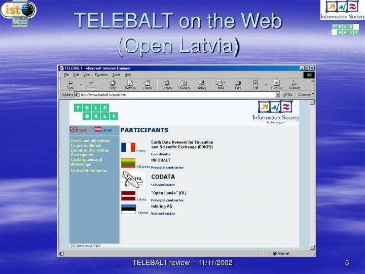 TELEBALT on the Web (Open Latvia)