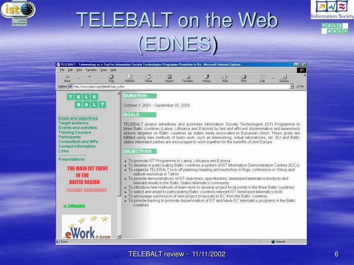 TELEBALT on the Web (EDNES)