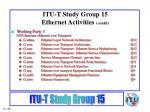 itu t study group 15 ethernet activities contd