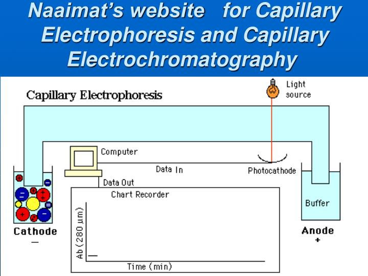 Naaimat s website for capillary electrophoresis and capillary electrochromatography