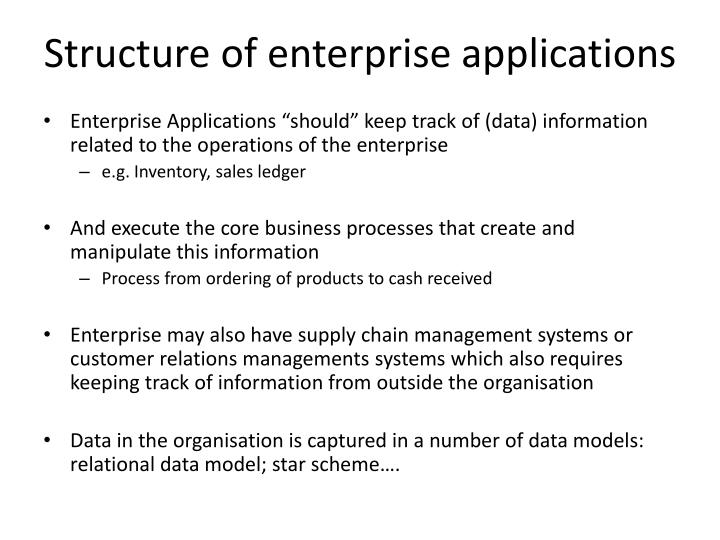 Structure of enterprise applications