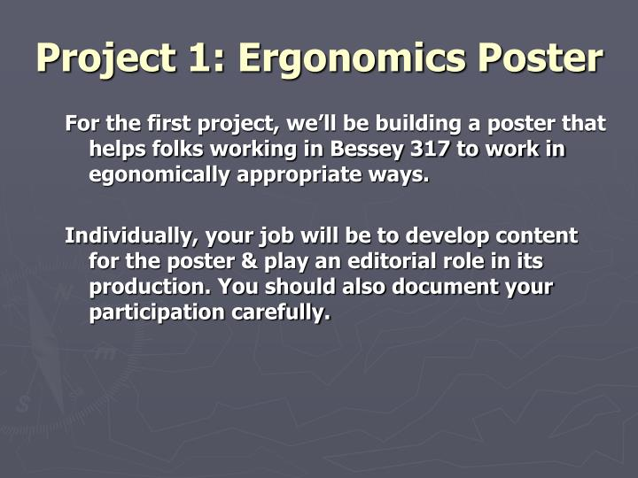 Project 1: Ergonomics Poster