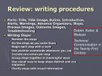 review writing procedures