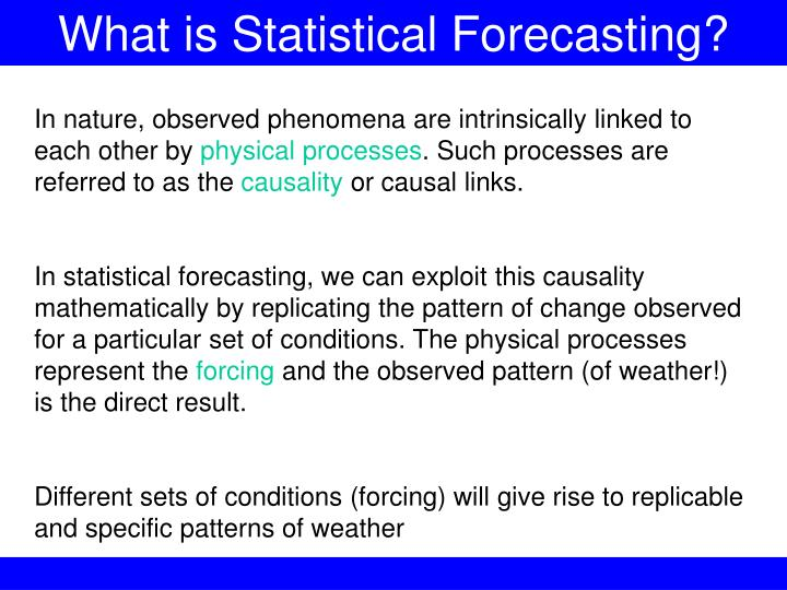What is Statistical Forecasting?