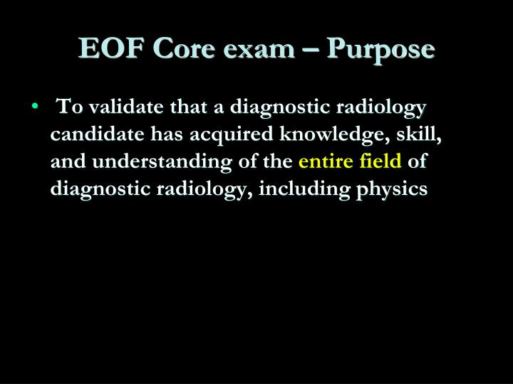 EOF Core