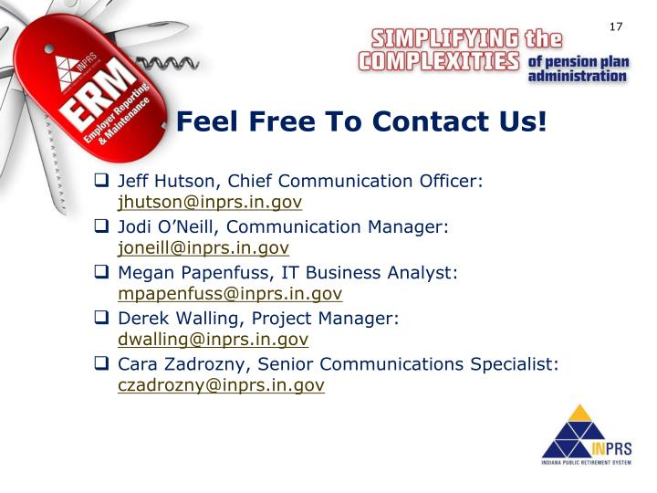 Feel Free To Contact Us!
