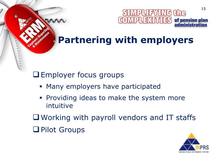 Partnering with employers