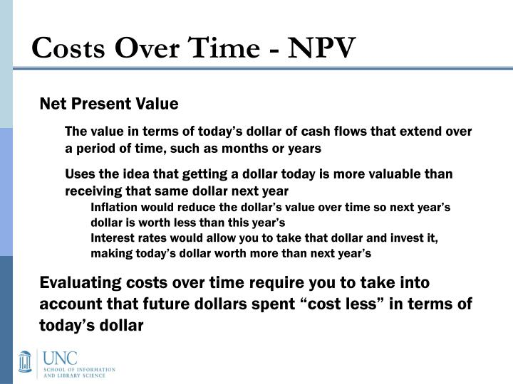 Costs Over Time - NPV