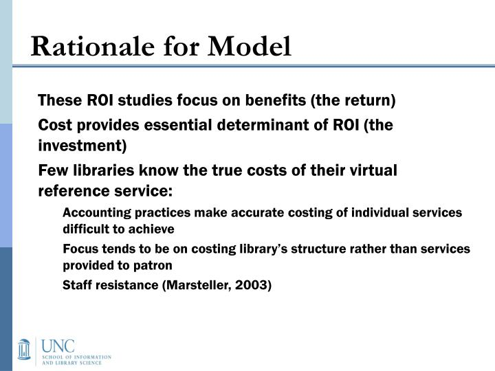 Rationale for Model