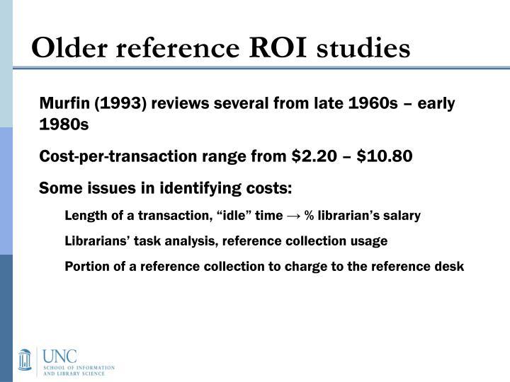 Older reference ROI studies