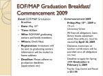eof map graduation breakfast commencement 2009